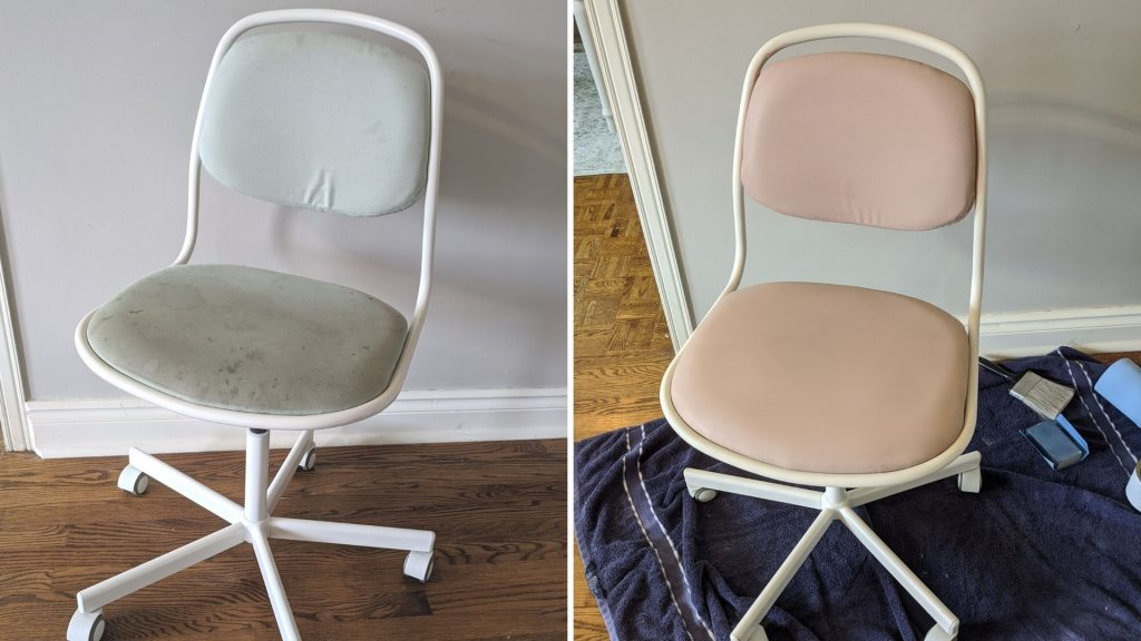 Chair before and after painting