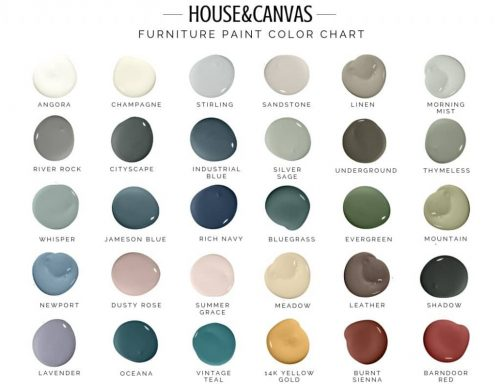 Chalk Finish Furniture Paint Color Chart