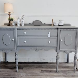furniture painted grey with hardware