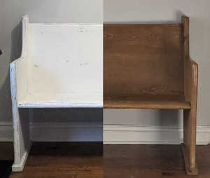 Church Pew Before And After