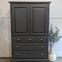 furniture painted black with hardware